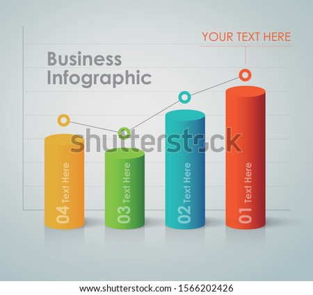 Business Infographic - bar chart