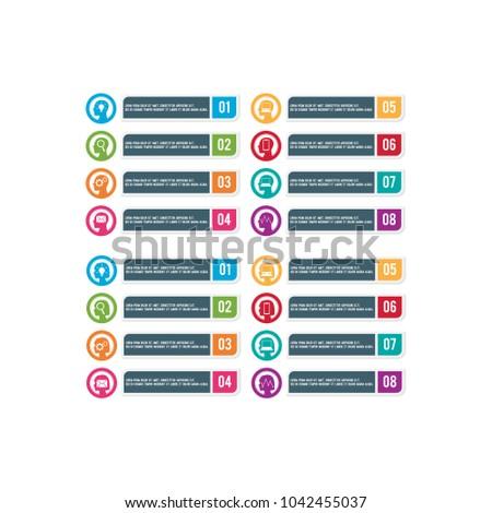 Business Infographic element vector set #1042455037
