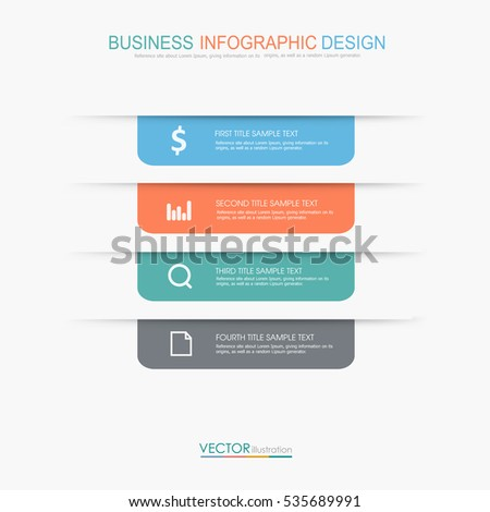 Business  infographic  template  the concept is circle option step with  full color icon can be used for diagram  infograph  chart or  business presentation , Vector design element  illustration