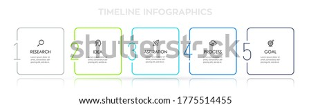 Business Infographic template. Thin line design with icons and 5 options or steps.