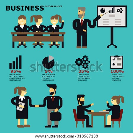 Business Infographics,Business Infographics, Business Meeting, Business Partners