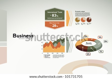 Business infographics data graphs charts and statistics for presentation reports etc.