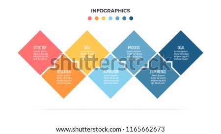 Business infographics. Informational table with 7 steps, options. Vector template.