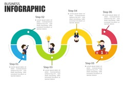 Business Infographics Path to Success