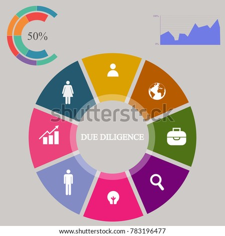 business infographics pie