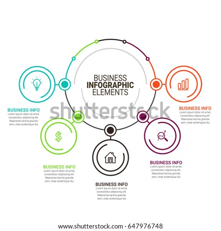 Business Infographics Template #647976748