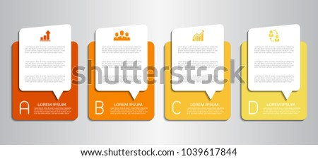 Business infographics template for presentation, web design, banners, brochures. Vector illustration