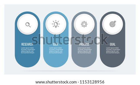Business infographics. Timeline with 4 steps, options. Vector template.