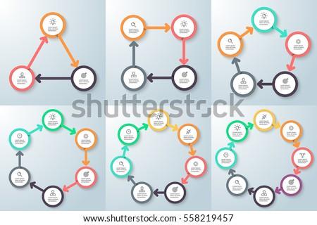 Business infographics. Triangle, square, pentagon, hexagon ...