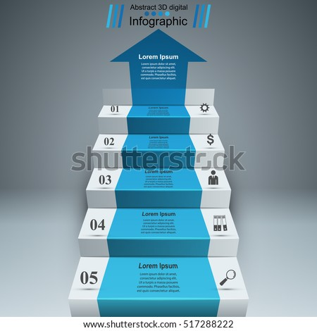 business infographics up the