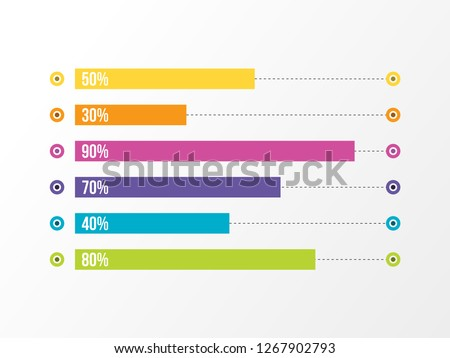 Business Infographics Vector Design template. Data Visualization Timeline with circles, steps, number options most useful can be used for workflow layout, presentation, diagram, annual reports