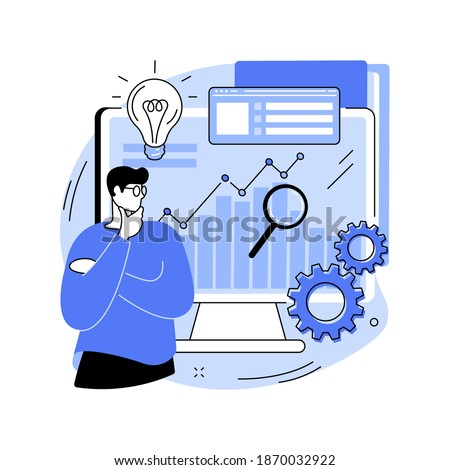Business Intelligence abstract concept vector illustration. Business data analysis, management tools, intelligence, enterprise strategy development, data-driven decisions making abstract metaphor.