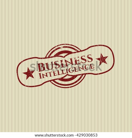 Business Intelligence grunge seal