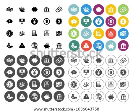 business investment icons set   ...