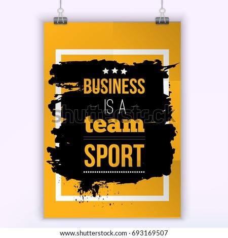 business is a team sport