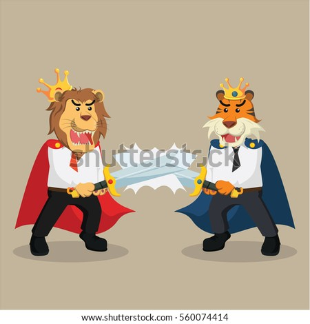 business king lion duel with