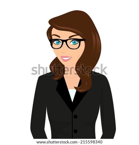 business lady wearing brown