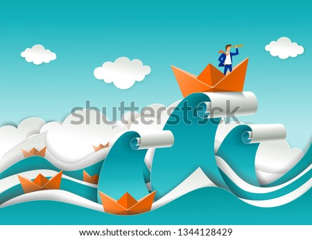 business leader concept vector