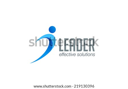 Business Leader Logo Business Leader Man Abstract