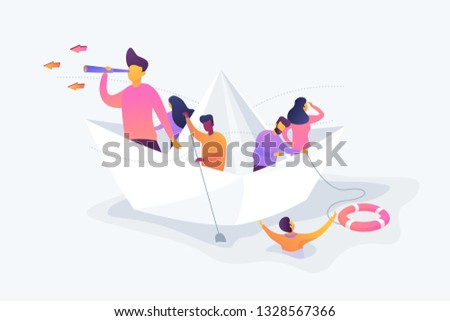 Business leadership, managing skills, leadership training plan concept. Vector isolated concept illustration. 3D liquid design.