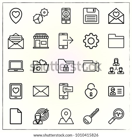 Business line icons set analytics and placeholder #1010415826