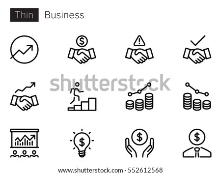 Business Line Vector icons Photo stock ©