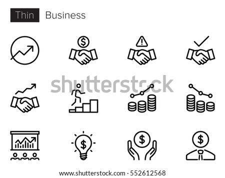 Business Line Vector icons Foto d'archivio ©