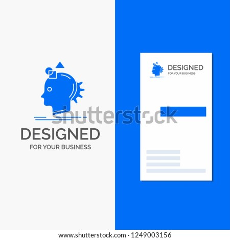 Business Logo for Imagination, imaginative, imagine, idea, process. Vertical Blue Business / Visiting Card template.
