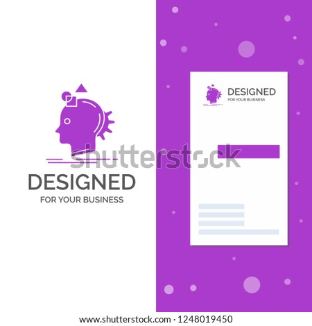 Business Logo for Imagination, imaginative, imagine, idea, process. Vertical Purple Business / Visiting Card template. Creative background vector illustration