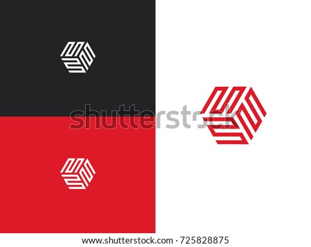 business logo letter m line
