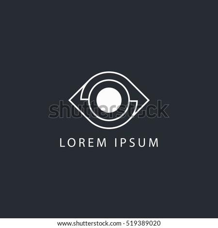 business logo lines eye vector