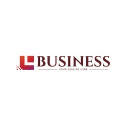 business logo or modern financial. simple logo with a square base shape and resembling the letter L.