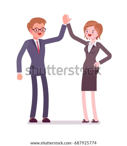 business male and female