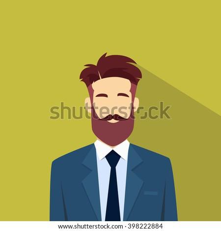 business man beard portrait