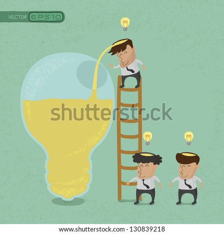 Business man brainstorming , Make Idea , eps10 vector format