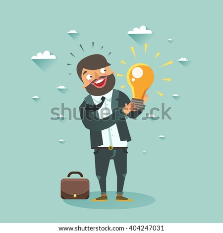 business man cartoon character