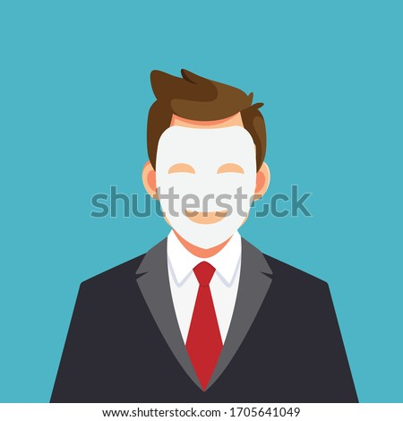 business man hides his identity