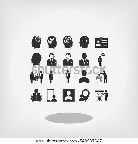 Business man icons, vector best flat icon, EPS