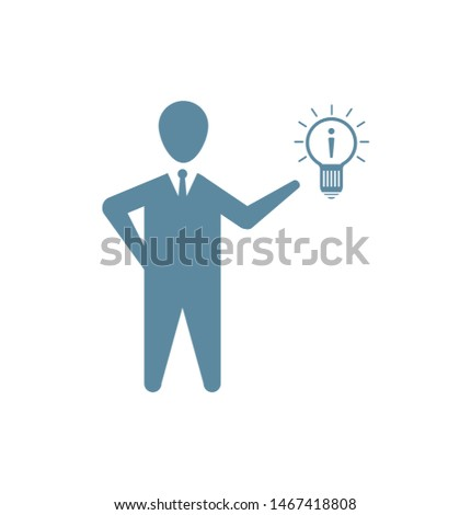 Business man, idea, creative idea icon