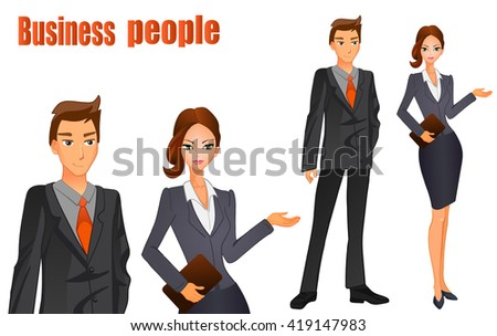 business man in a suit with