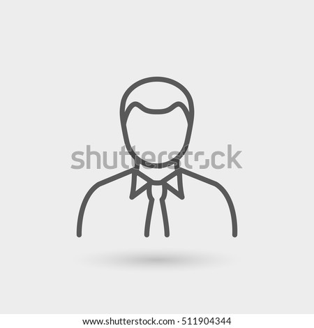 business man line icon in black for business, office and human resources.