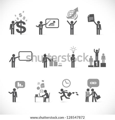Business man metaphors - figure set collection 2