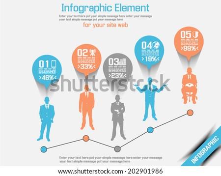 business man modern infographic ...