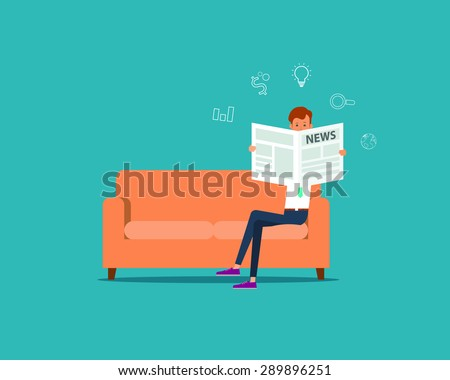 business man reading a