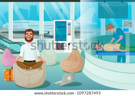 business man relax in massage