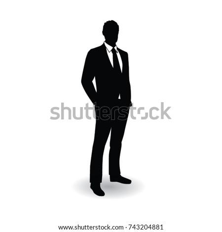 business man silhouette pose