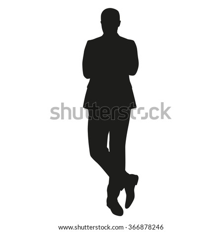 Business Man Silhouette. Standing Man In Suit Stock Vector ...