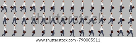 Business Man walking animation sprite sheets