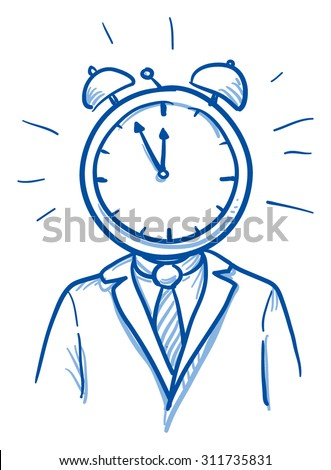 business man with clock instead
