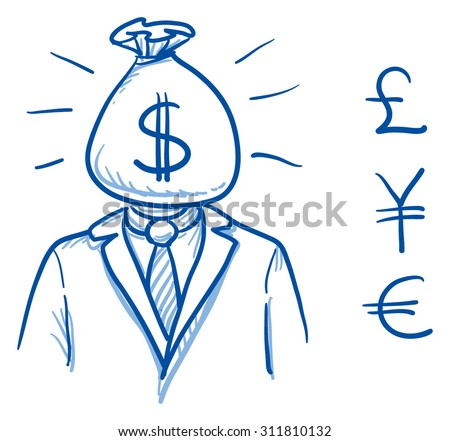 business man with money bag